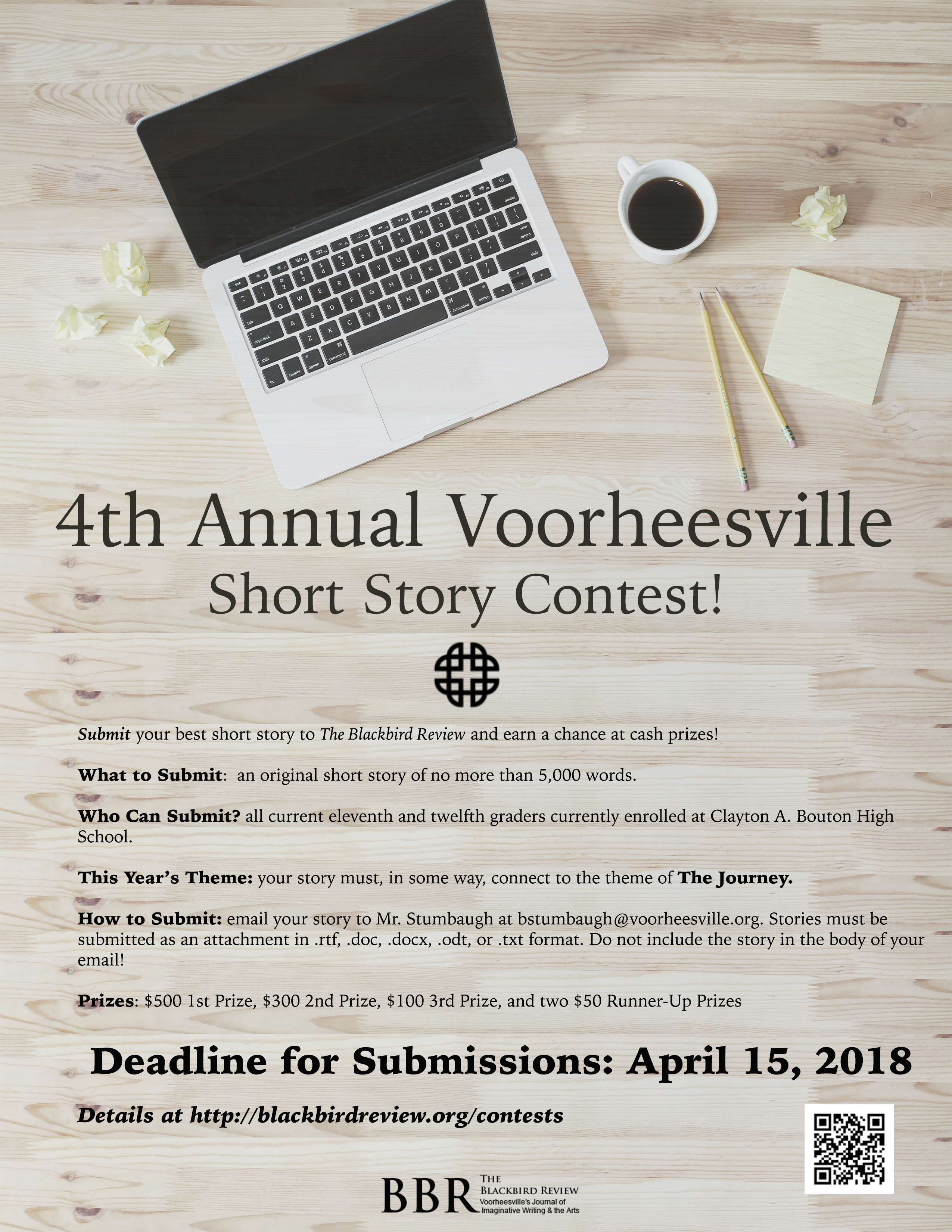 4th Annual Short Story Contest Announced! - The Blackbird Review